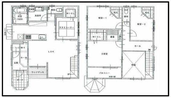 新築一戸建て-名古屋市守山区小幡北 全居室にウォークインクローゼットがあり、綺麗な室内を保てます。