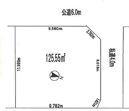 土地-坂戸市大字片柳 区画図