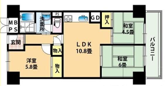 マンション(建物一部)-大阪市西淀川区佃2丁目 間取り