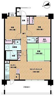 中古マンション-横須賀市衣笠栄町3丁目 間取り
