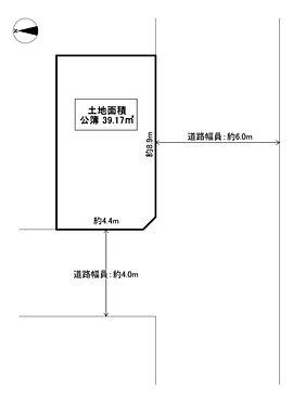 土地-守口市金田町5丁目 区画図