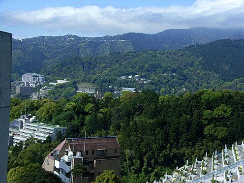 中古マンション-熱海市伊豆山 リビングから見える山の風景 海と山の景色をどちらも楽しめるお部屋です。