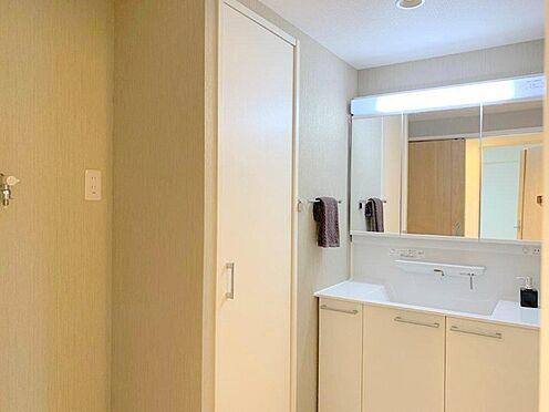 中古マンション-多摩市中沢1丁目 コーディネートされた空間で気持ちよく身だしなみを整えられます。