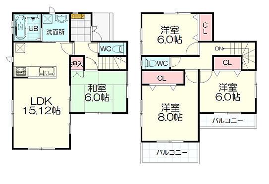 新築一戸建て-仙台市宮城野区平成1丁目 間取り