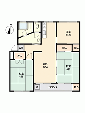マンション(建物一部)-横浜市金沢区富岡西1丁目 間取り