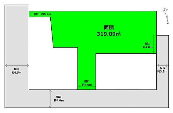 土地-仙台市太白区向山1丁目 区画図