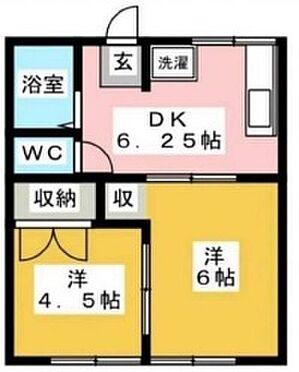アパート-宇都宮市富士見ヶ丘 間取り