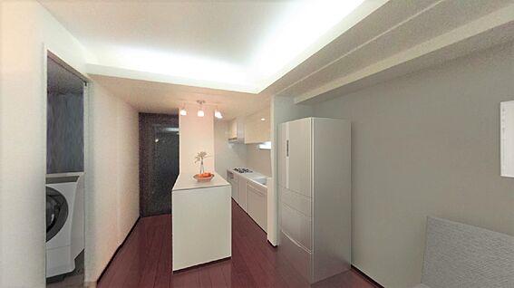 中古マンション-新宿区新宿7丁目 この画像は実際の室内写真をもとにCG作成したリフォームイメージ画像です。家具・什器は価格に含みません