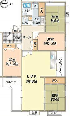 区分マンション-八王子市南大沢4丁目 使いやすい間取りの4LDK