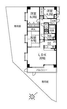 中古マンション-多摩市和田 間取り