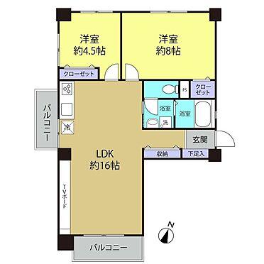 区分マンション-多摩市落合3丁目 単身者〜ご夫婦+お子様1人くらいまでの世帯にちょうど良いサイズのお部屋です。
