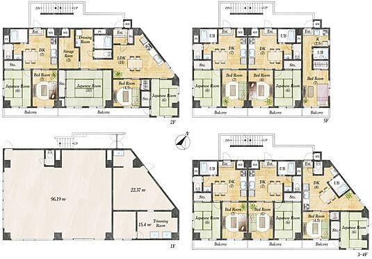 一棟マンション-葛飾区東金町5丁目 店舗2戸、3SLDK1戸、2DK9戸、1R1戸