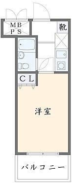 マンション(建物一部)-川崎市高津区向ケ丘 バルコニーが南向きの1Kのお部屋です。