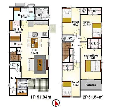 新築一戸建て-刈谷市築地町5丁目 間取りは生活のしやすさを重視。家族みんなが気持ちよく過ごすための構造と使いやすい間取りを実現。