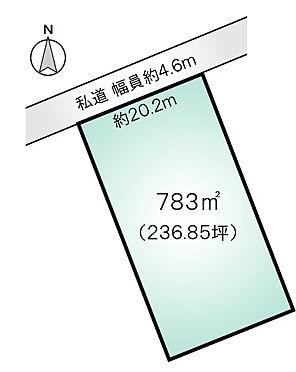 土地-北佐久郡軽井沢町大字長倉千ケ滝西区 区画図