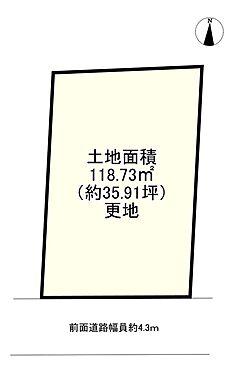 土地-神戸市北区君影町5丁目 区画図