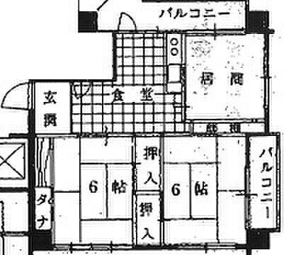 中古マンション-新潟市中央区信濃町 間取り