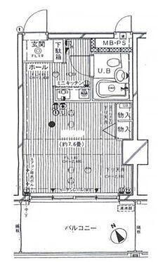 マンション(建物一部)-横浜市鶴見区生麦4丁目 間取り