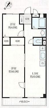 中古マンション-千葉市稲毛区黒砂台3丁目 広めの洋室10.5帖を有する2LDKです。間仕切り可能な為、家族構成や用途に合わせて3LDKとしても