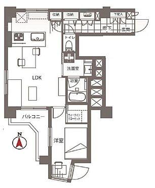 中古マンション-新宿区若松町 間取り