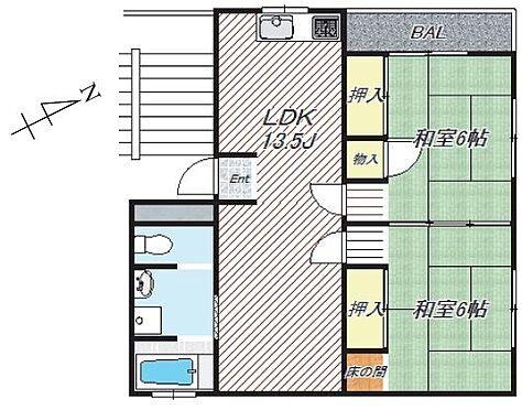 マンション(建物一部)-横浜市保土ケ谷区狩場町 間取り