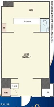 店舗事務所(建物一部)-板橋区板橋3丁目 間取り