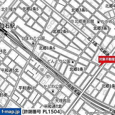 アパート-札幌市白石区北郷一条7丁目 地図