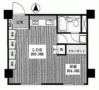マンション(建物一部)-中野区中央4丁目 間取り