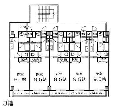 マンション(建物全部)-京都市右京区太秦帷子ケ辻町 3階
