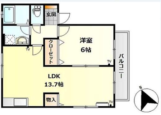 アパート-呉市焼山桜ヶ丘3丁目 間取り