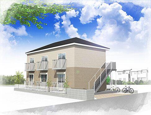 アパート-鎌ケ谷市南鎌ケ谷1丁目 イメージパース(南側)