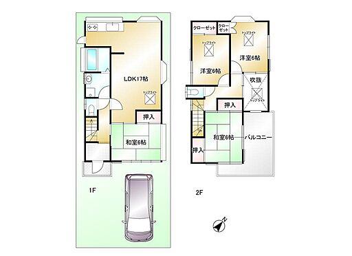建物全部その他-狭山市広瀬台3丁目 延床面積:97.98平米・全居室6帖以上の4LDK・光を取込むトップライト4ヶ所・開放感のある吹抜け・広々ワイドバルコニー