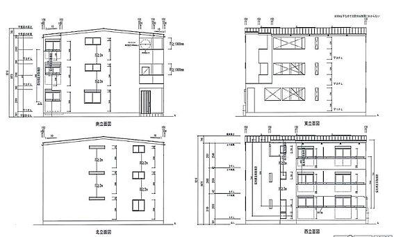 アパート-名古屋市港区稲永1丁目 立面図