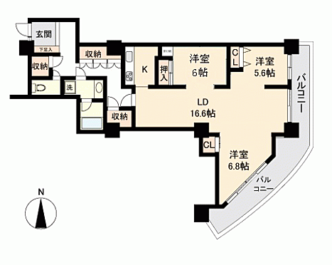 マンション(建物一部)-名古屋市北区成願寺1丁目 間取り