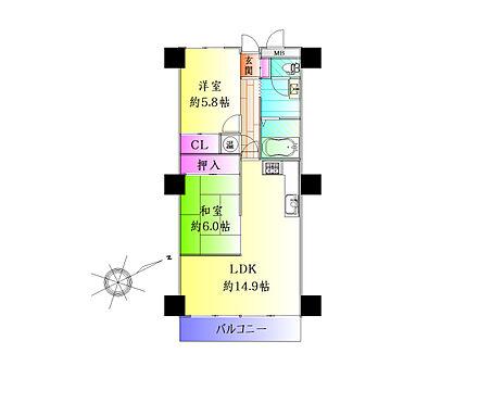 中古マンション-仙台市青葉区霊屋下 間取り