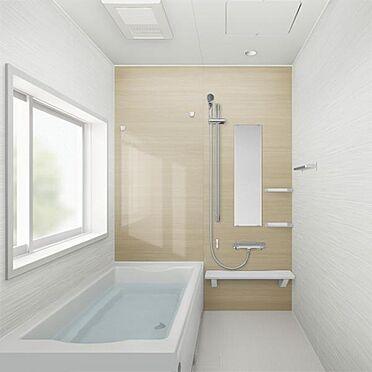 戸建賃貸-名古屋市西区笠取町1丁目 足を伸ばしてゆっくりくつろげる浴槽サイズ。滑りにくい設計でお子様とのお風呂も安心です。(同仕様)