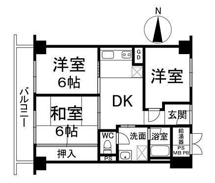 区分マンション-大阪市北区天神橋3丁目 間取り