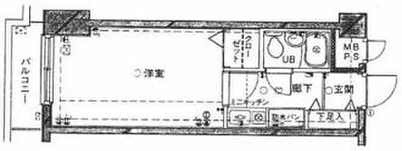 区分マンション-大田区大森西3丁目 間取り