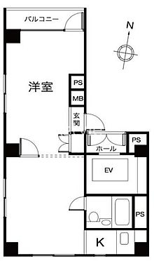マンション(建物一部)-千代田区九段南2丁目 間取り