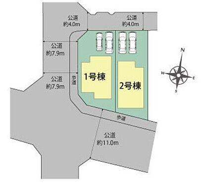 新築一戸建て-名古屋市名東区猪子石1丁目 並列駐車2台可能!