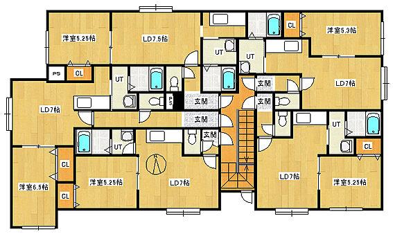 アパート-札幌市手稲区富丘一条6丁目 間取り