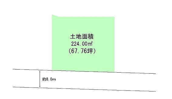 土地-大崎市三本木坂本字青山 区画図