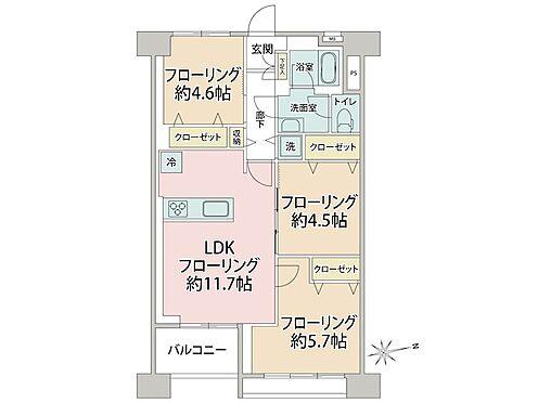 中古マンション-品川区南大井6丁目 間取り