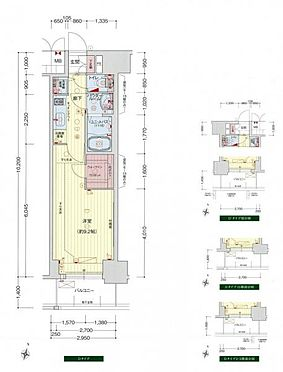 マンション(建物一部)-大阪市西区江戸堀3丁目 左右反転タイプ