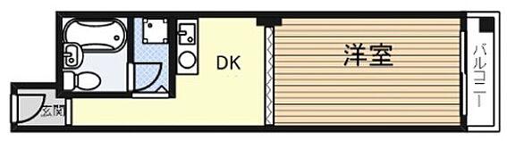 マンション(建物一部)-大阪市中央区瓦屋町2丁目 水まわりと居室をわけた暮らしやすいプラン