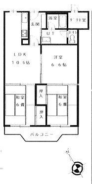 区分マンション-札幌市西区二十四軒二条5丁目 間取り