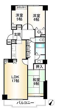 中古マンション-神戸市垂水区名谷町 間取り