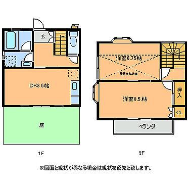 アパート-つくばみらい市谷井田 102号室間取り図