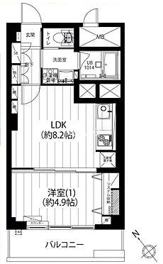 マンション(建物一部)-中央区明石町 間取り