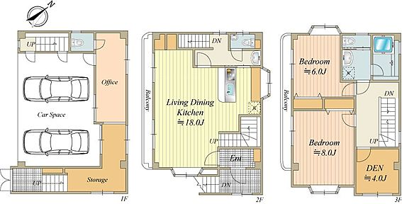 中古一戸建て-中央区佃1丁目 1階に事務室と物置があります。間取2SLDK+事務所+物置